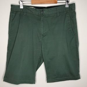 Men's Green Volcom Vmonty Stretch Shorts Size 33